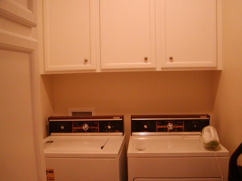 Laundry Room with extra capacity washer and dryer
