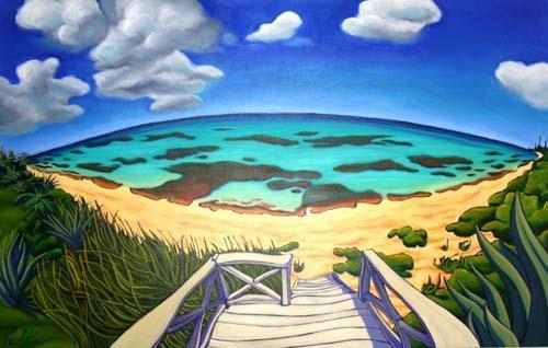Artist Depiction of Aqua Vista Beach