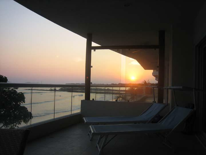 Sunset from private terrace