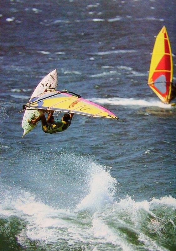 Windsurfers - dicht bij huis van Mama's vis