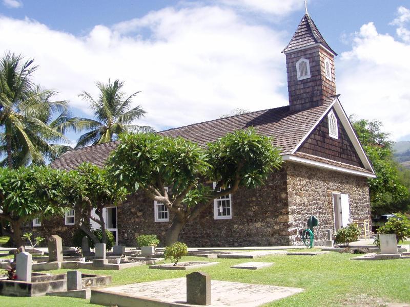 Hawaiian zingen - grote historische kerk- So Kihei Road