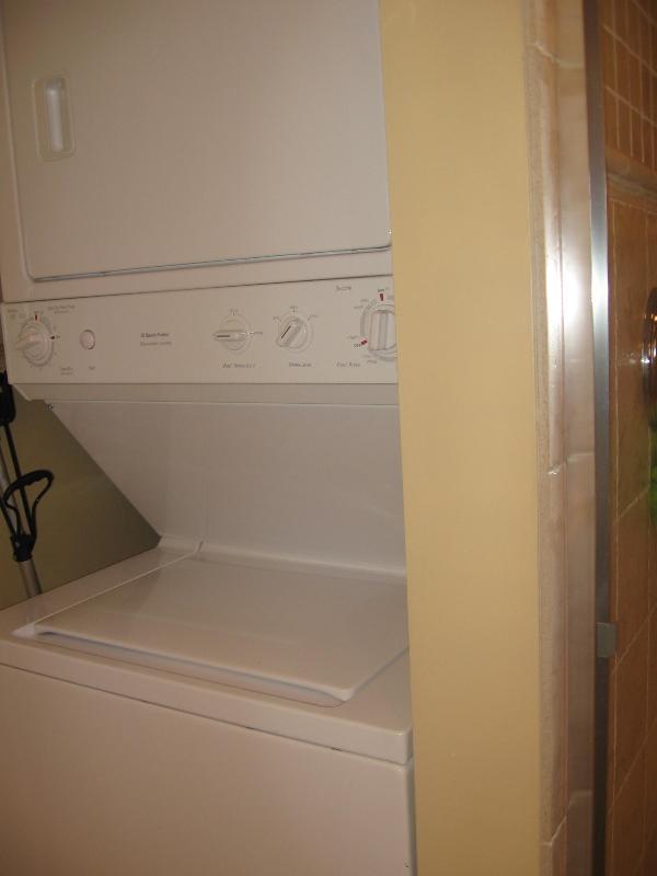Wasmachine/droger in de badkamer