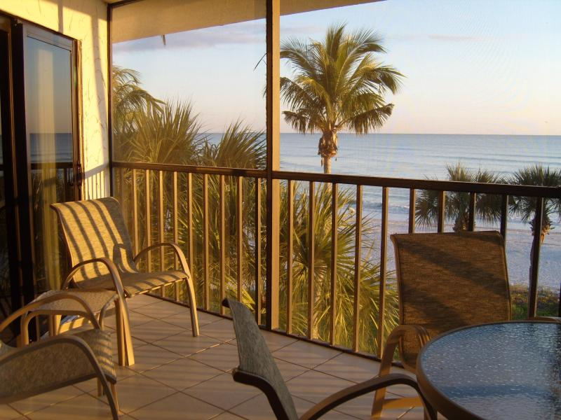 Watch the sunset from our 3rd floor lanai