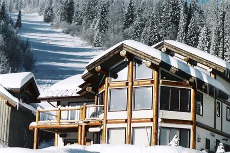 Kodiak Timber lodge nestled at bottom of Blazer ski run. The ski hill is your backyard!