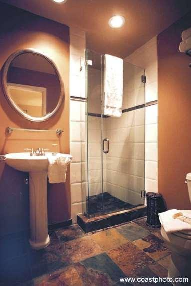Private bathroom for master bedroom has a heated floor