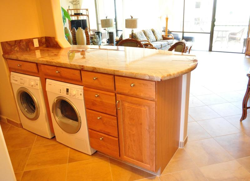 401 washer and dryer so you can pack light!