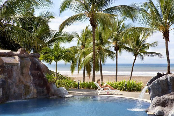 Relax at the ocean front pool