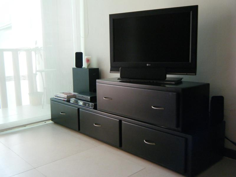 Entertainment area with LCD flat screen, DVD stereo surround,  SKY satellite TV