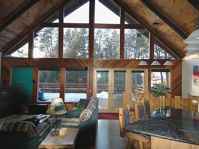 family room looking towards meadow