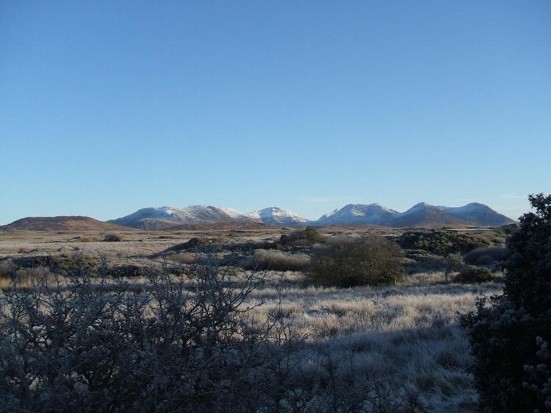 View from garden & 12 Bens.