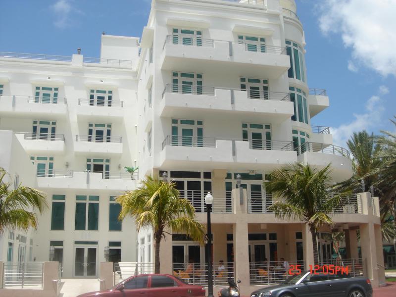 View of Ocean Five Building from Ocean Drive