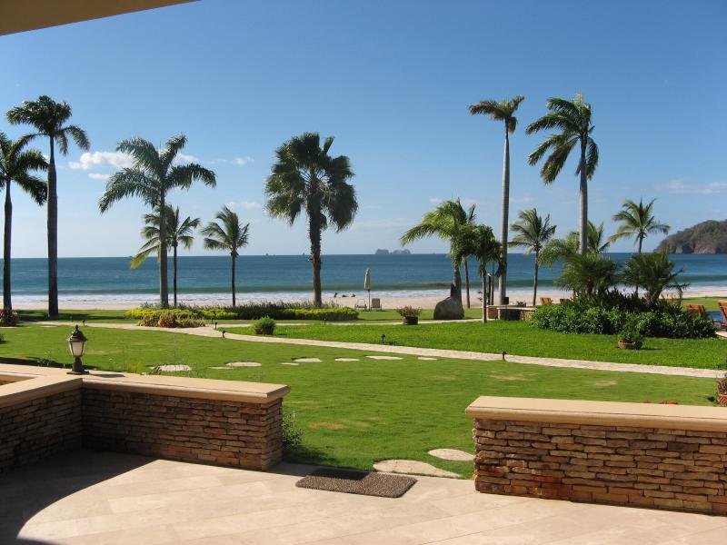 The Palms #7 Flamingo Beach Costa Rica, Terrace Deck View to Beach