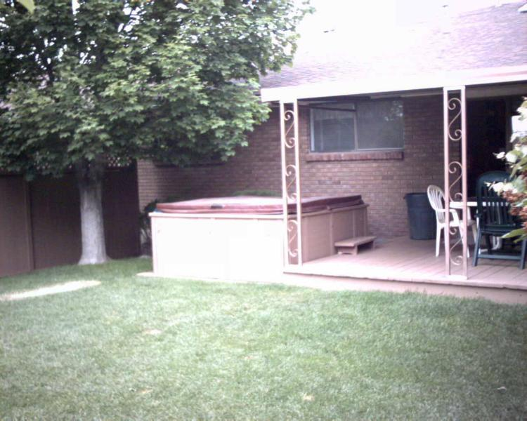 exterior rear (patio and hot tub)