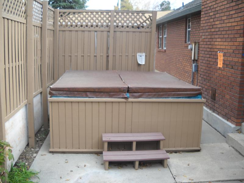 8 ft. by 8 ft. hot tub