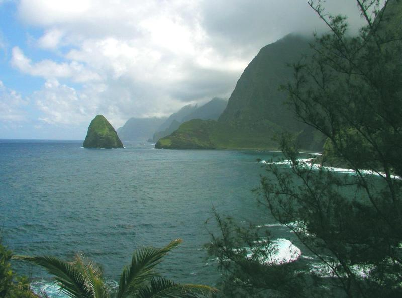 Molokai's Majestic North  Shore Coastline