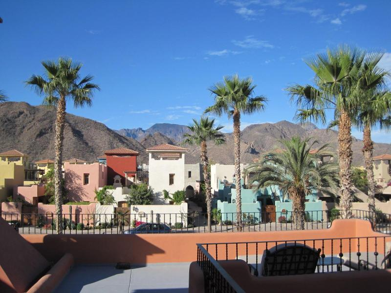 Spectacular mountain views from the upstairs sun deck.