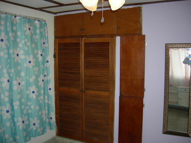 2nd bedroom - all closet and doors are made of mahogany