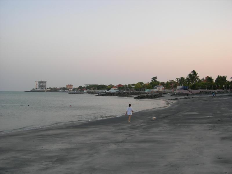 Note: the beach is NOT dirty,  the - black sand - has migrated down from a nearby black sand beach..