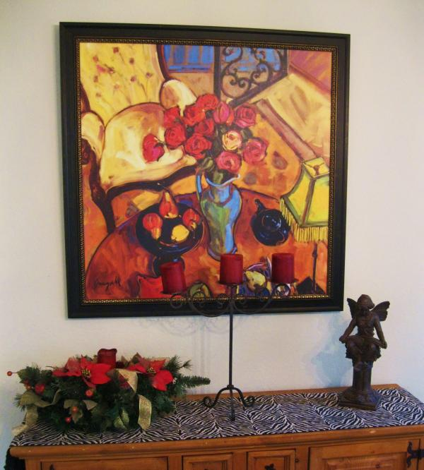 Art Work Throughout the Professionally Designed Interior of the Home