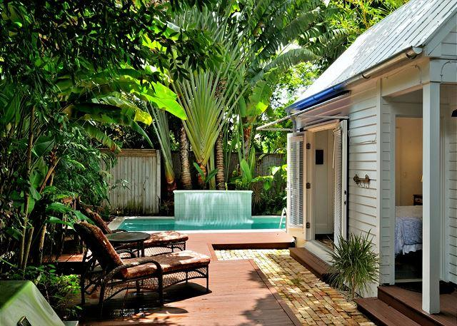 Lush Gardens Surround the Private Heated Pool and Deck Area