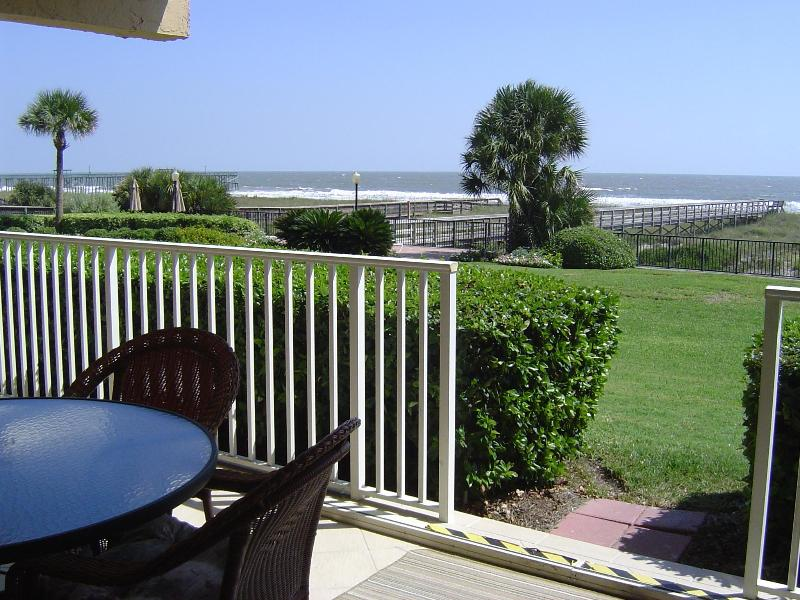 Enjoy Atlantic from your own private covered patio