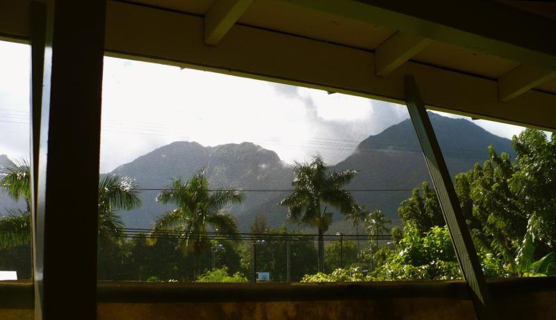 View of moody Mountain sky from the side Lanai