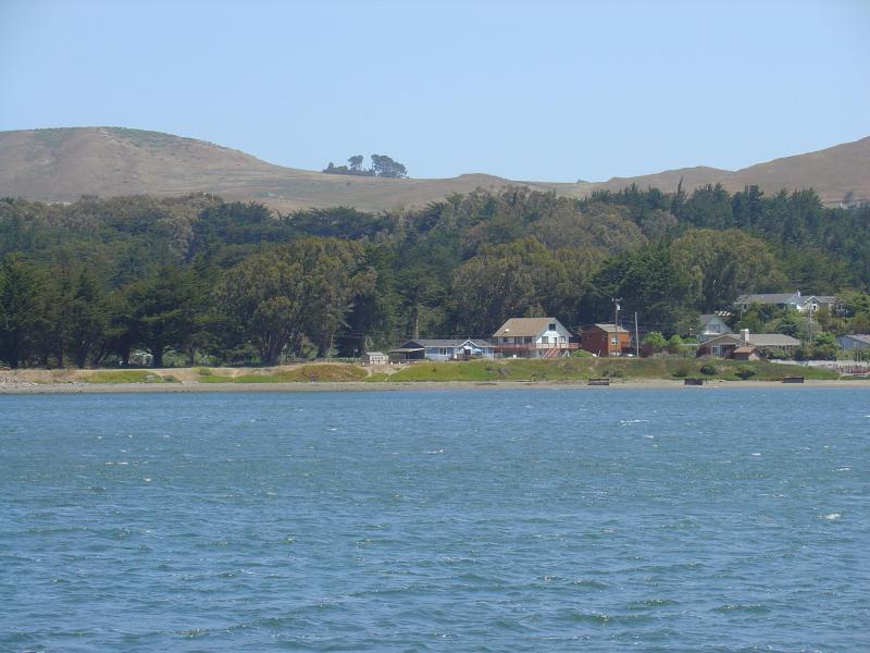 Harbor Cutie utsikt från Spud punkt Marina\ Pier