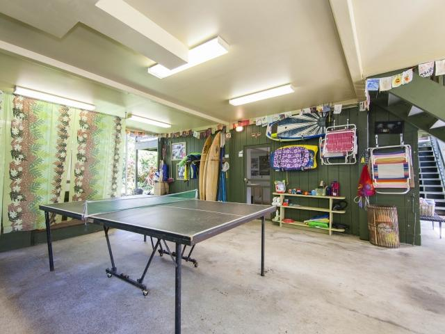 Ping Pong under the carport