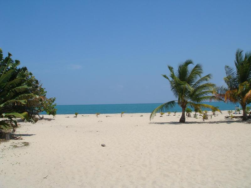 The beach - just a two minute walk away