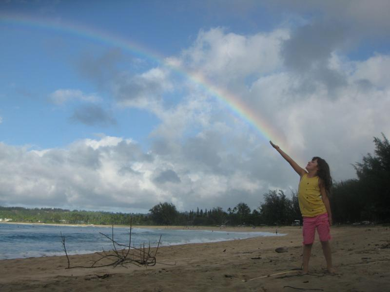 Waterfalls & your own rainbows on Hanalei Bay