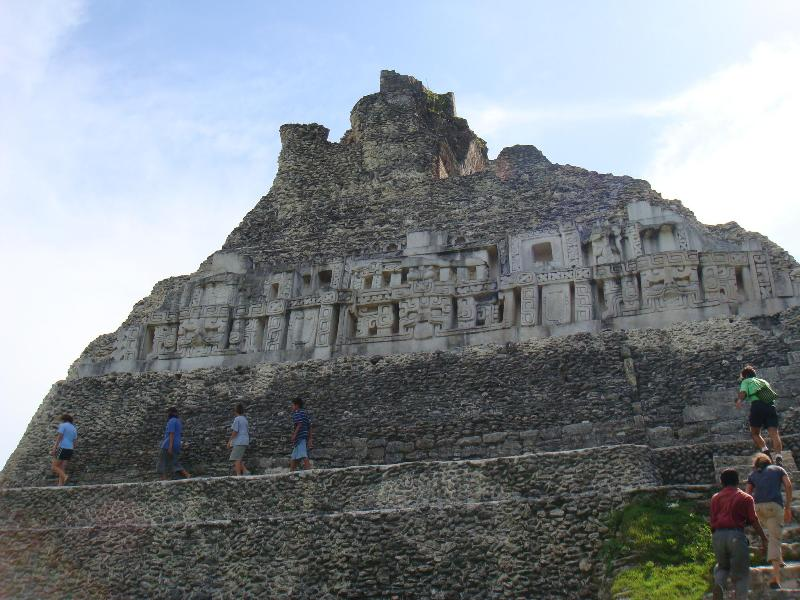 One of the many Mayan ruins in Belize