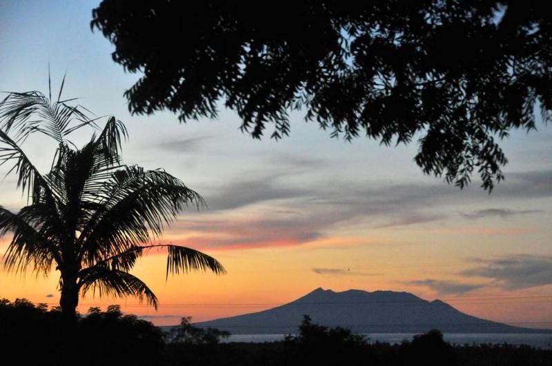 Vista dos vulcões javanesa leste