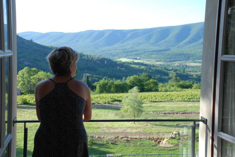 View from master bedroom to hills