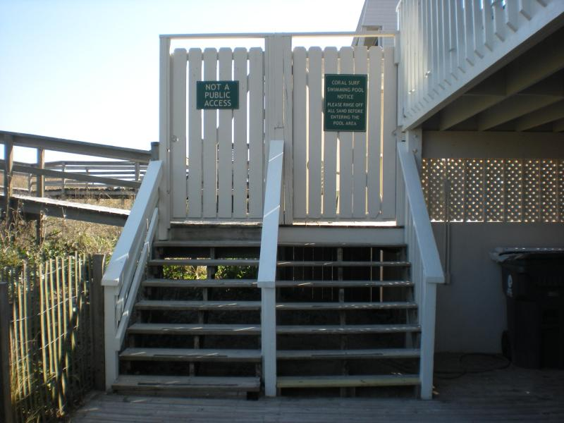PRIVATE WALKWAY TO BEACH AND GATE POOL ENTRANCE