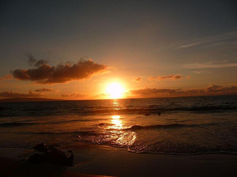 Enjoy the sunset at Kamaole II Beach every night!