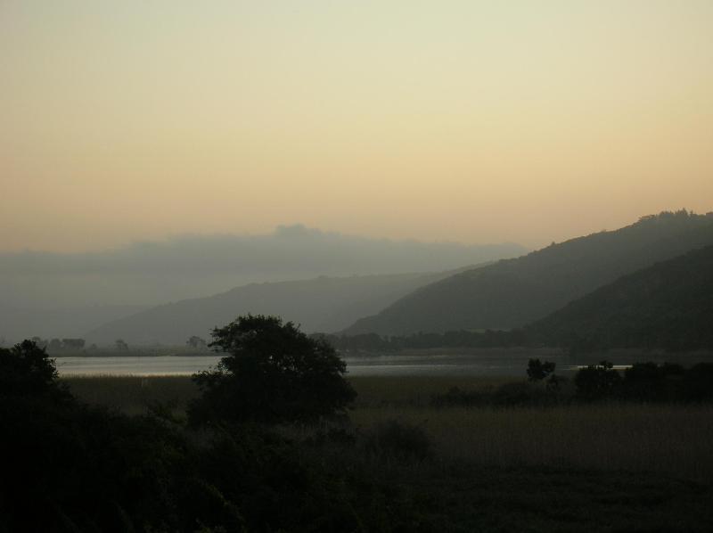 Dusk over Island Lake