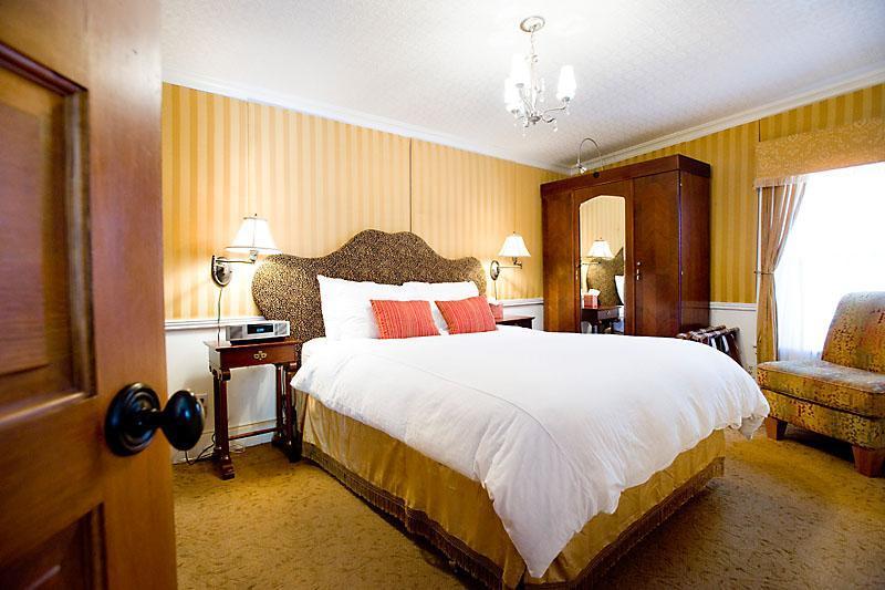 Gold bedroom.