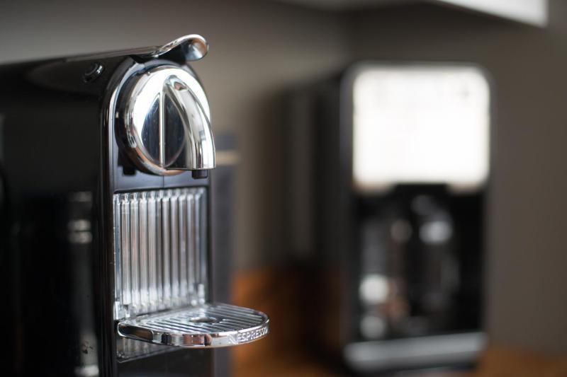 Nespresso and regular coffee makers.