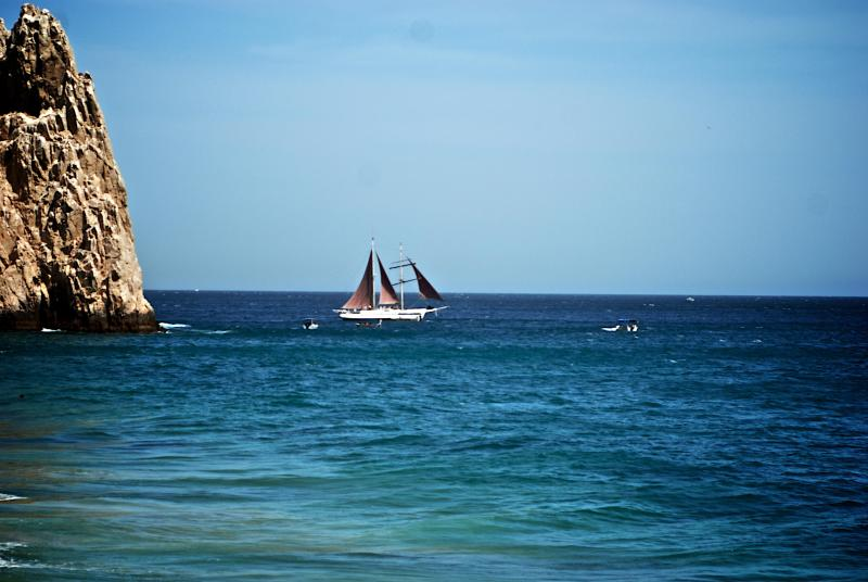An early evening site of Pirate Vessel at Land\'s End