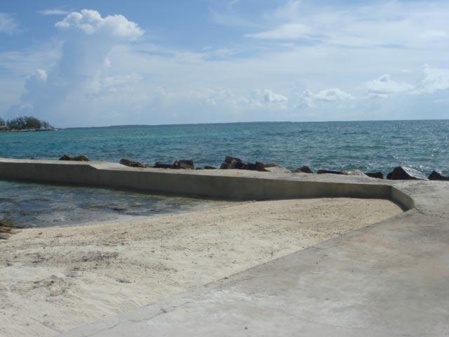 Beach area with Deck and Breakwater