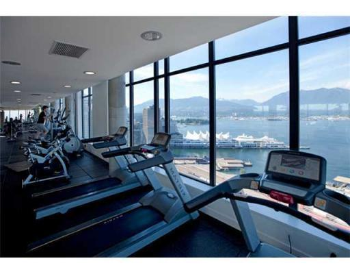 Keeping fit in Club W fitness centre with fabulous views