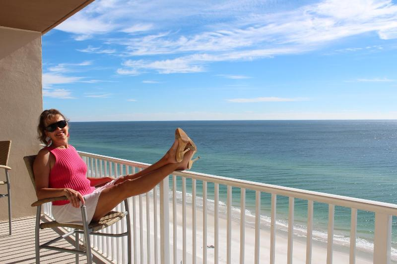 This could be you relaxing on the balcony!