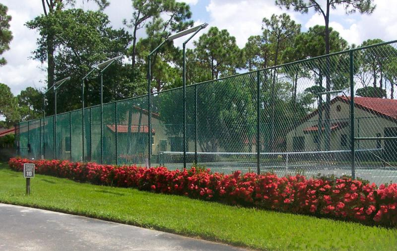 One of the 2 tennis courts.