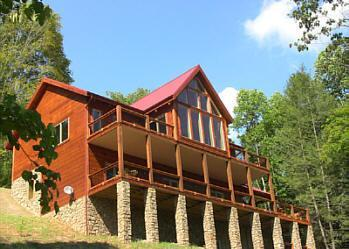 Red Top Retreat Over looking lake, mountains and Cherokee National Forest.