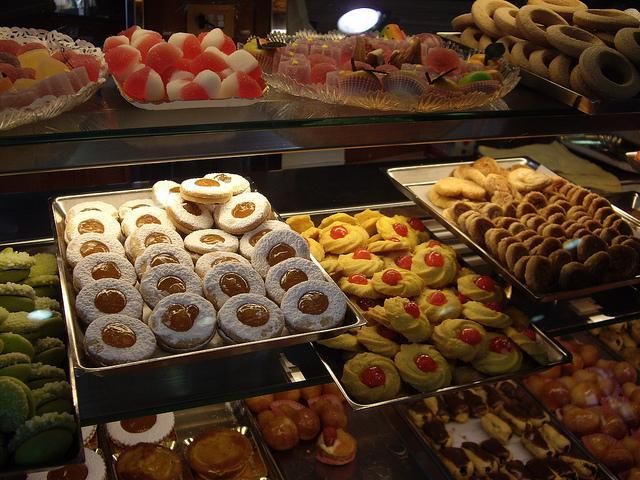 The delicious pastry at the bakery around the corner