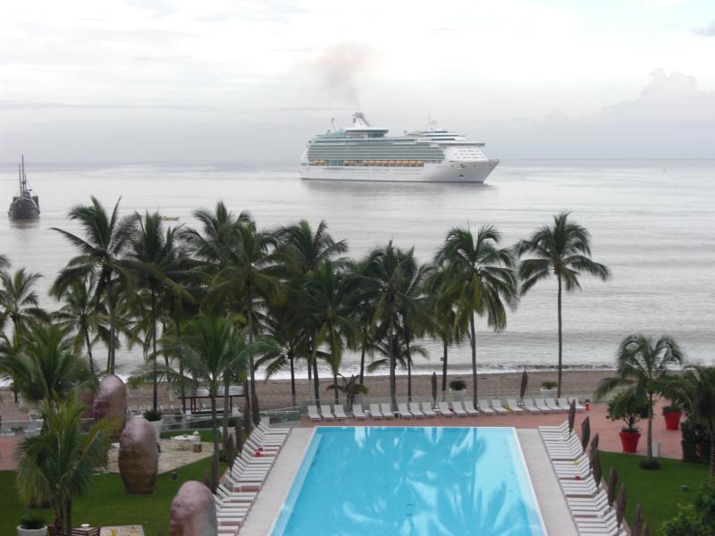 Vista do terraço - navio de cruzeiro