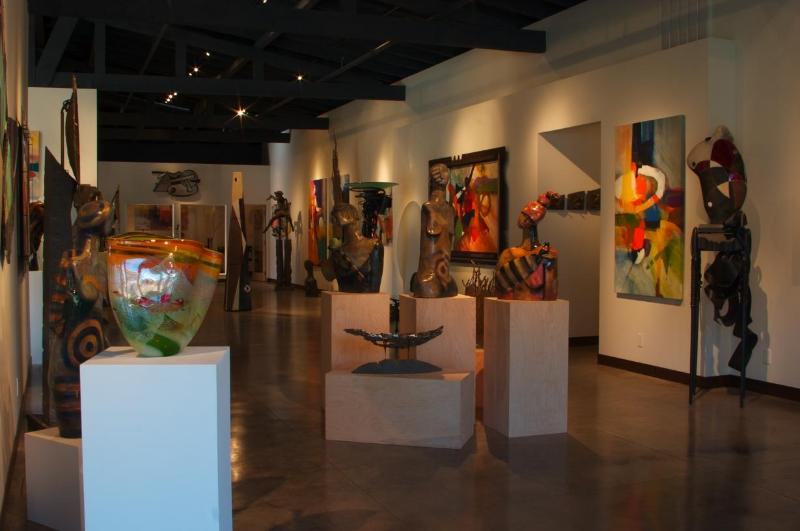 View inside the on-site Hawthorne Gallery
