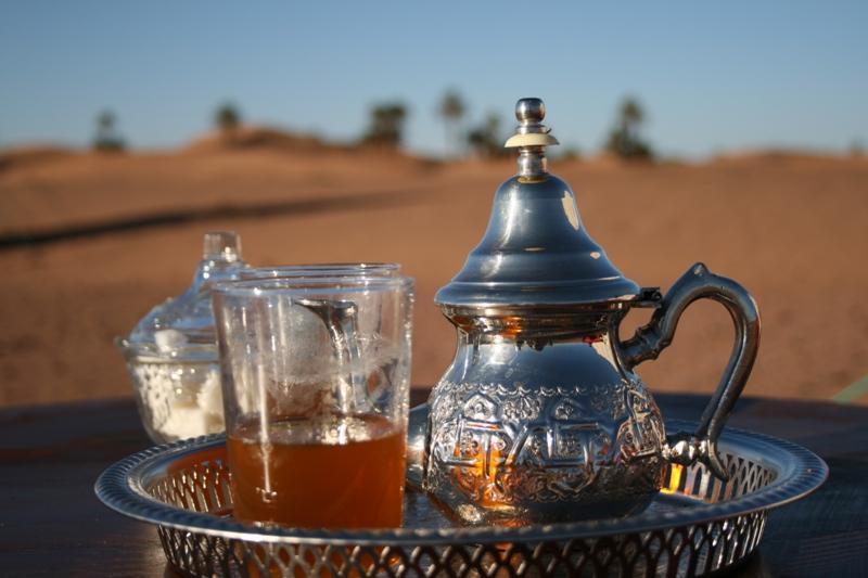Refreshing Moroccan mint tea