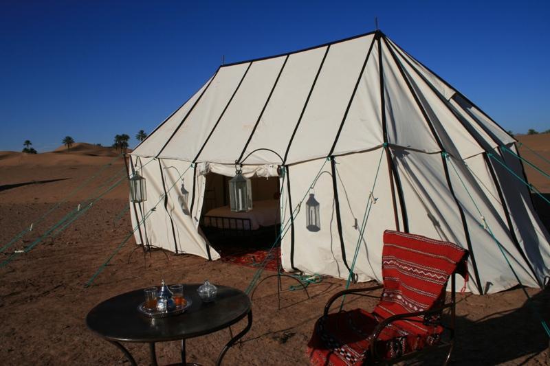 Spacious sleeping tents - 18 sq. metres