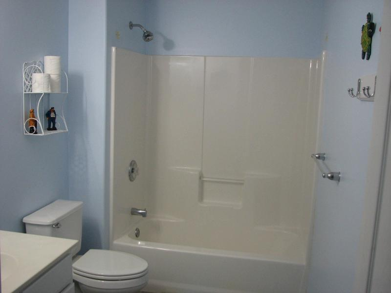 2nd Bathroom - The shower curtain was removed for the picture.